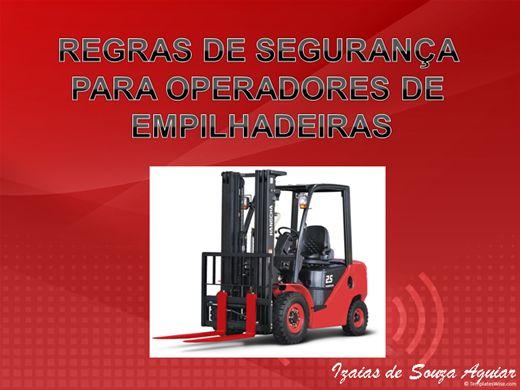 Curso Online de REGRAS DE SEGURANÇA NA OPERAÇÃO COM EMPILHADEIRAS