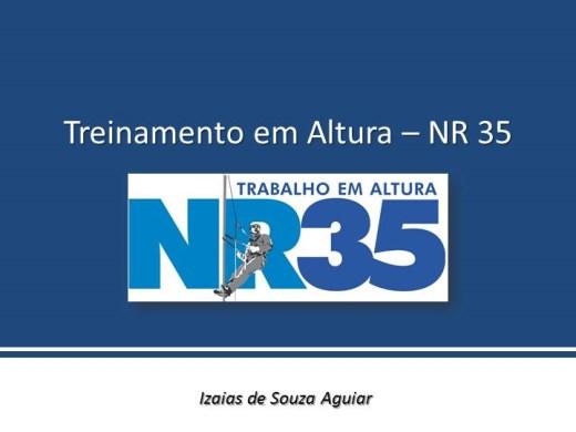 Curso Online de TREINAMENTO EM ALTURA (conforme NR 35)