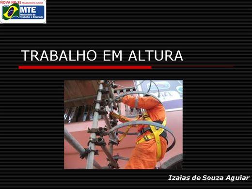 Curso Online de TRABALHO EM ALTURA (Atividades Andaime, Escadas)