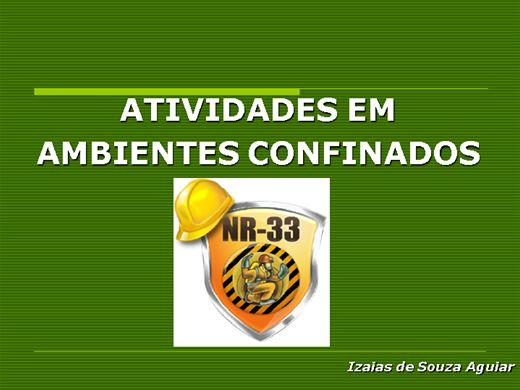 Curso Online de ATIVIDADES EM AMBIENTES CONFINADOS