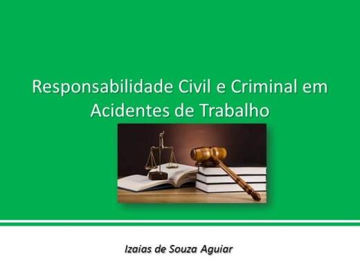 Curso Online de RESPONSABILIDADE CIVIL E CRIMINAL NO ACIDENTE DE TRABALHO