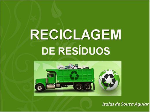 Curso Online de RECICLAGEM DE RESÍDUOS