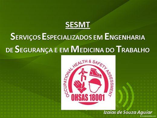 Curso Online de SESMT- SERVIÇOS ESPECIALIZADOS EM ENGENHARIA  DE SEGURANÇA E EM MEDICINA DO TRABALHO