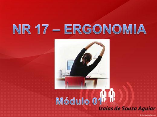 Curso Online de NR 17 ERGONOMIA - Módulo 01