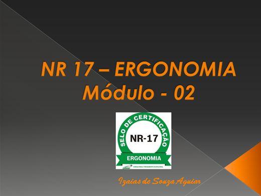 Curso Online de NR 17 ERGONOMIA - Módulo Básico
