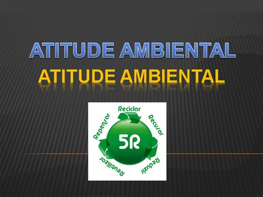 Curso Online de ATITUDE AMBIENTAL - 5 Rs