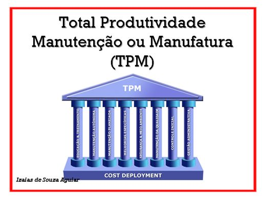 Curso Online de TPM - TOTAL PRODUTIVIDADE DA MANUTENÇÃO OU MANUFATURA