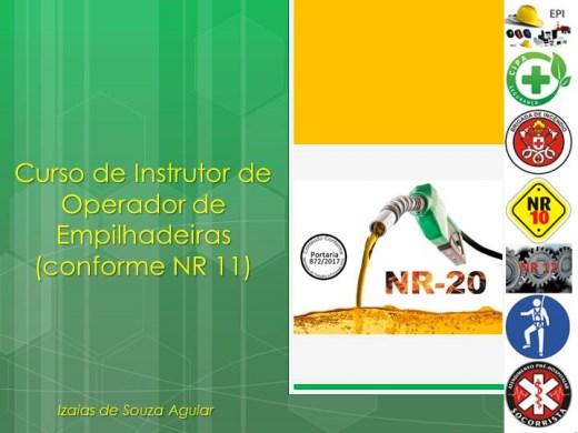 Curso Online de CURSO DE INSTRUTOR DE OPERADOR DE EMPILHADEIRA