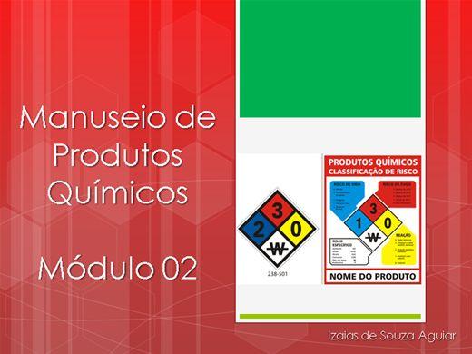 Curso Online de MANUSEIO DE PRODUTOS QUÍMICOS -  Módulo 02