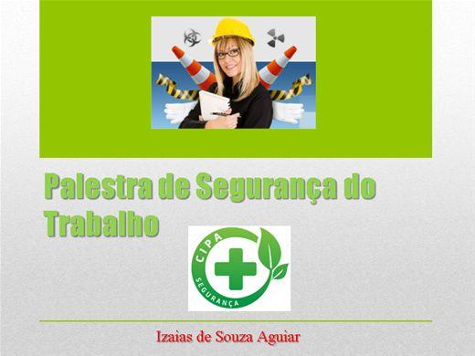 Curso Online de PALESTRA DE SEGURANÇA DO TRABALHO