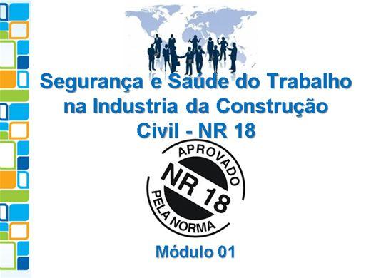 Curso Online de Segurança e Saúde do Trabalho na Industria da Construção Civil - NR 18 - Módulo 01