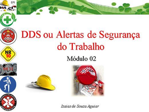 Curso Online de DDS ou Alerta de Segurança do Trabalho - Módulo 02