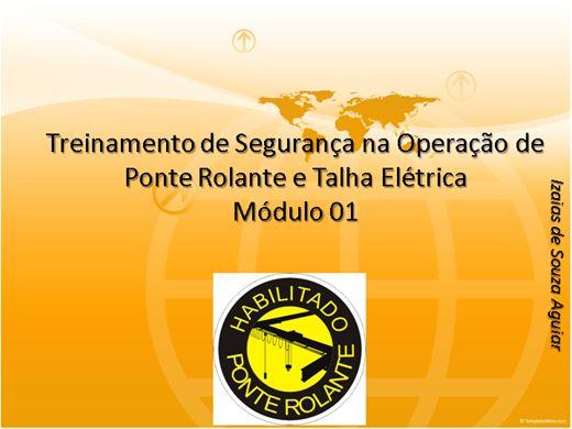 Curso Online de Treinamento de Segurança na Operação de Ponte Rolante e Talha Elétrica  Módulo 01