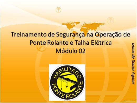 Curso Online de Treinamento de Segurança na Operação de Ponte Rolante e Talha Elétrica - Módulo 02