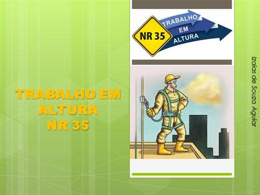 Curso Online de TÉCNICAS PARA TRABALHO EM ALTURA - NR 35