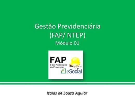 Curso Online de GESTÃO PREVIDENCIÁRIA (FAP/NTEP) - Módulo 01