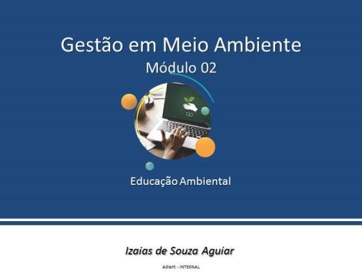 Curso Online de GESTÃO EM MEIO AMBIENTE - Educação Ambiental - Módulo 02