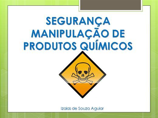 Curso Online de SEGURANÇA MANIPULAÇÃO DE PRODUTOS QUÍMICOS