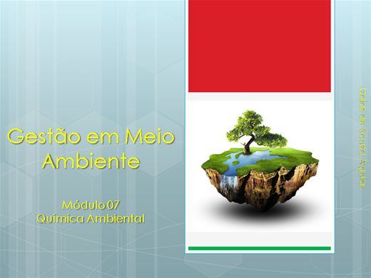 Curso Online de Gestão em Meio Ambiente - Módulo 07 Química Ambiental