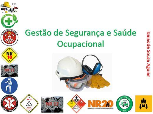 Curso Online de GESTÃO DE SEGURANÇA E SAÚDE OCUPACIONAL