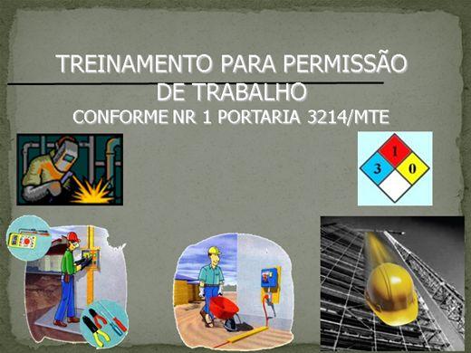 Curso Online de TREINAMENTO PARA PERMISSÃO   DE TRABALHO - CONFORME NR 1 PORTARIA 3.214/MTE
