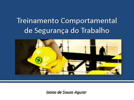 Curso Online de Treinamento Comportamental de Segurança do Trabalho