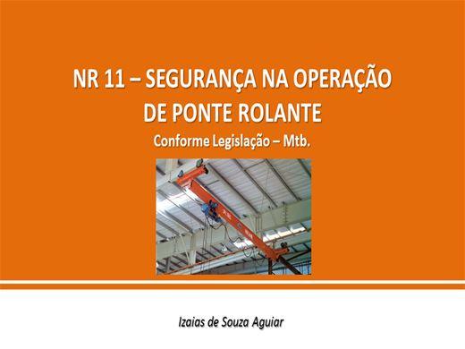 Curso Online de NR 11 - SEGURANÇA NA OPERAÇÃO DE PONTE ROLANTE - Conforme Legislação Mtb.