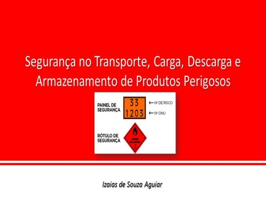 Curso Online de Segurança no Transporte, Carga, Descarga e Armazenamento de Produtos Perigosos