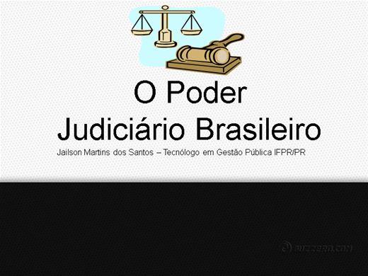 Curso Online de O PODER JUDICIÁRIO BRASILEIRO