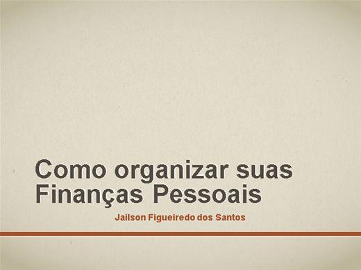 Curso Online de COMO ORGANIZAR SUAS FINANÇAS PESSOAIS