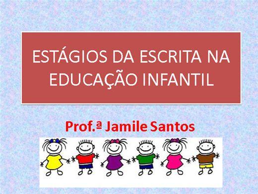Curso Online de ESTÁGIOS DA ESCRITA NA EDUCAÇÃO INFANTIL