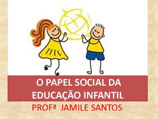 Curso Online de O PAPEL SOCIAL DA EDUCAÇÃO INFANTIL