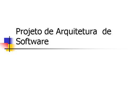 Curso Online de ARQUITETURA DE SOFTWARE
