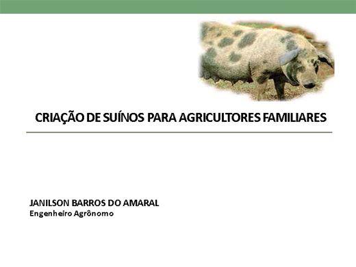 Curso Online de CRIAÇÃO DE SUÍNOS PARA AGRICULTORES FAMILIARES