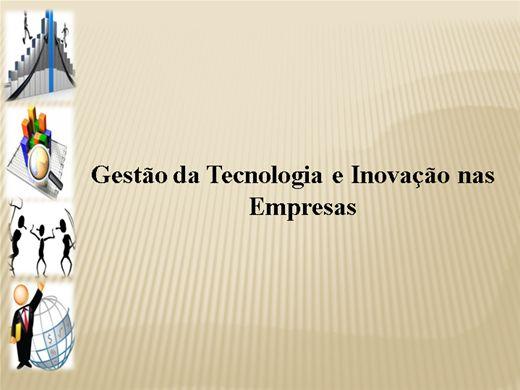 Curso Online de Gestão da Tecnologia e Inovação nas empresas