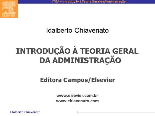 Curso Online de ITGA- Introdução a Teoria Geral da Administração.