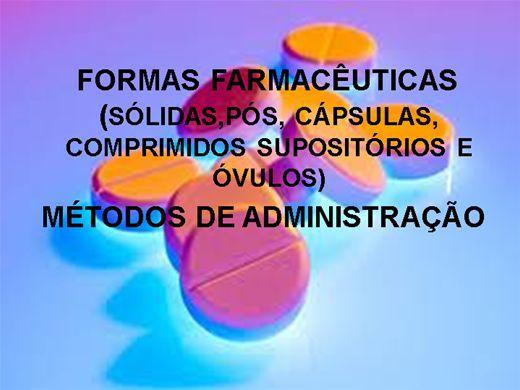 Curso Online de FORMAS FARMACÊUTICAS E MÉTODOS DE ADMINISTRAÇÃO