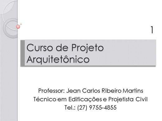 Curso Online de Curso de Projeto Arquitetônico