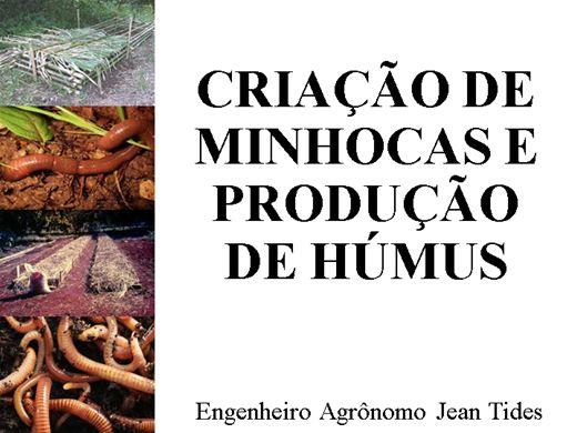Curso Online de CRIAÇÃO DE MINHOCAS E PRODUÇÃO DE HÚMUS