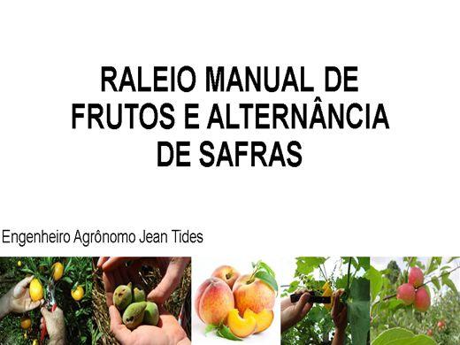 Curso Online de RALEIO MANUAL DE FRUTOS E ALTERNÂNCIA DE SAFRAS