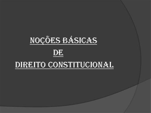 Curso Online de Noções Básicas de Direito Constitucional