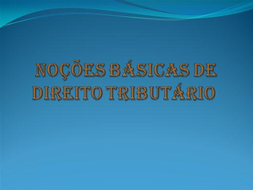 Curso Online de Noções Básicas de Direito Tributário