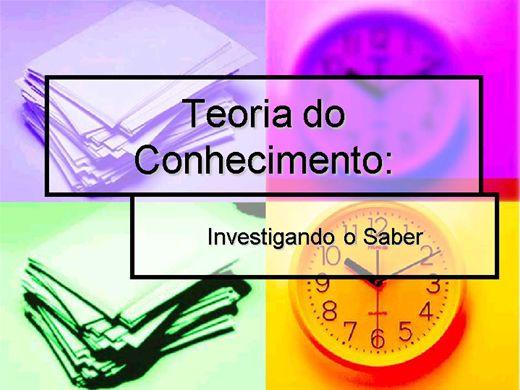 Curso Online de Teoria do Conhecimento