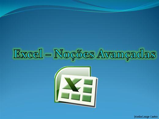 Curso Online de EXCEL - NOÇÕES AVANÇADAS