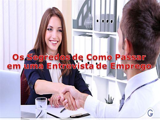 Curso Online de OS SEGREDOS DE COMO PASSAR EM UMA ENTREVISTA DE EMPREGO.