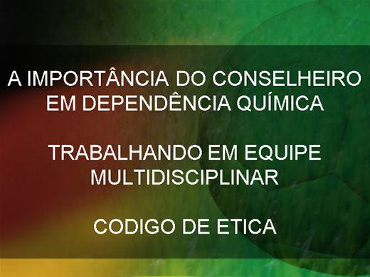 Curso Online de ETICA NO ACONSELHAMENTO EM DEPENDÊNCIA QUIMICA