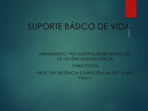 Curso Online de ATENDIMENTO PRÉ-HOSPITALAR EM SITUAÇÕES DE URGÊNCIA/EMERGÊNCIA