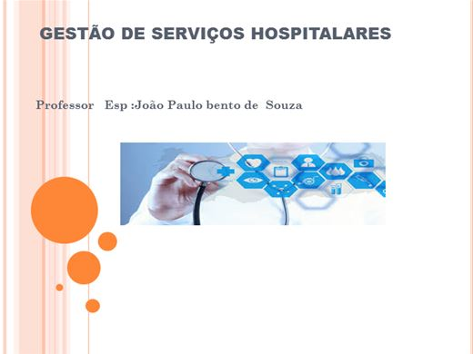 Curso Online de GESTÃO DE SERVIÇOS HOSPITALARES