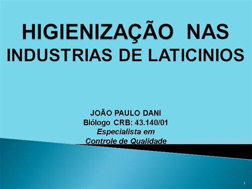 Curso Online de HIGIENIZAÇÃO NA INDÚSTRIA DE LATICINIOS