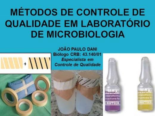 Curso Online de MÉTODOS DE CONTROLE DE QUALIDADE EM LABORATÓRIOS DE MICROBIOLOGIA